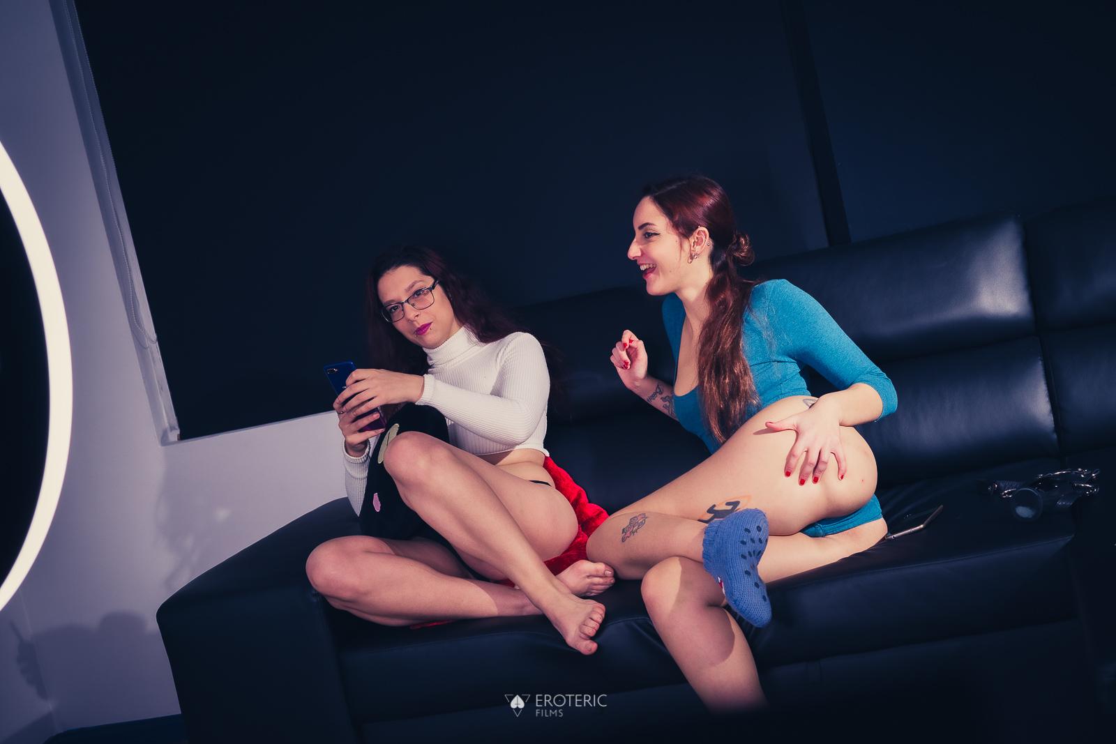 Behind the scenes: Strap-on scene with Zenda Sexy & Margout Darko.
